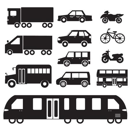 family van: Flat cars concept set icon pictogram illustration design. Tampla Illustration