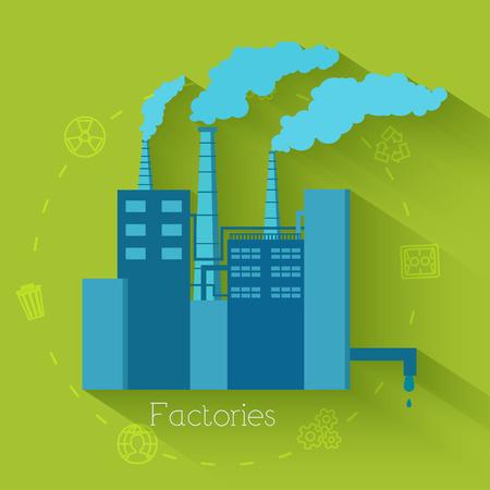 生態学、環境、緑のクリーン エネルギーと世論調査のフラットなデザイン