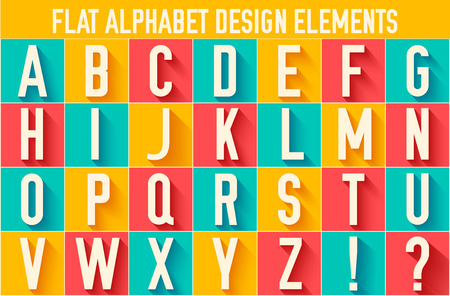 fun: flat colorful letter of the alphabet vector illustration design Illustration