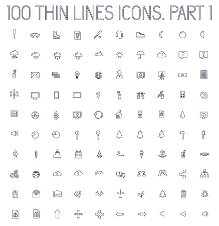 buisnessman: part 2 of collection thin lines pictogram icon set concept backg Illustration