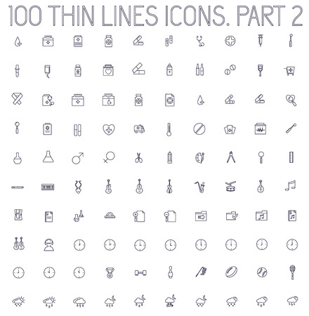 buisnessman: part 2 of collection thin lines pictogram icon set concept background. Vector template design for web and mobile application Illustration