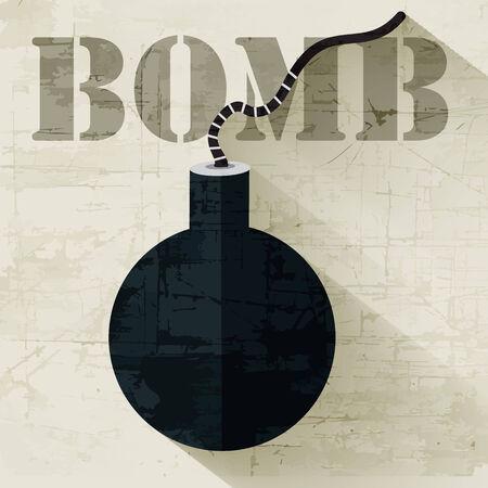 anti noise: grunge military grenede icon background concept. Vector illustra Illustration