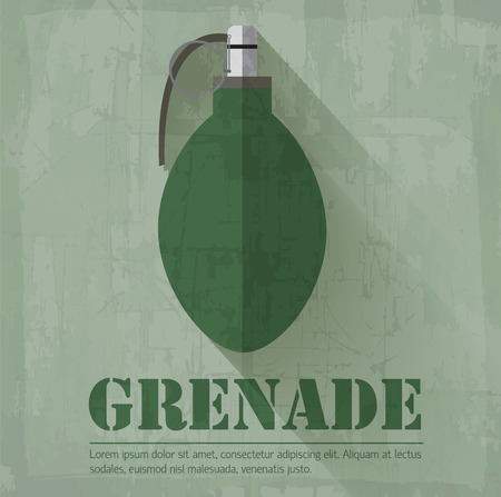 anti noise: grunge grenede militari concetto icona sfondo. Vector illustra