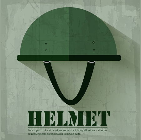 military helmet: grunge military  helmet icon background concept. Vector illustra