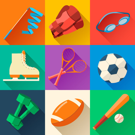 lifestyle: Circular concept of sports equipment sticker background. vector Illustration