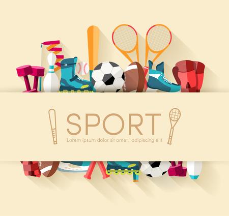 racing skates: Circular concept of sports equipment sticker background. vector Illustration