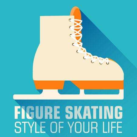 skating rink: Flat sport skating background concept. Vector illustration desig