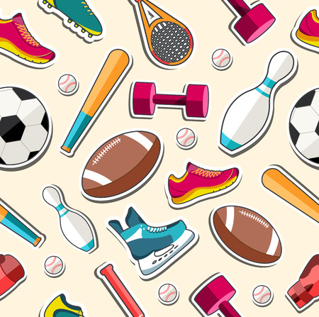 boxing tape: Circular concept of sports equipment sticker background. vector Illustration
