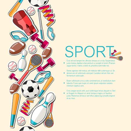 スポーツ機器のステッカーの背景の円形の概念。ベクトル