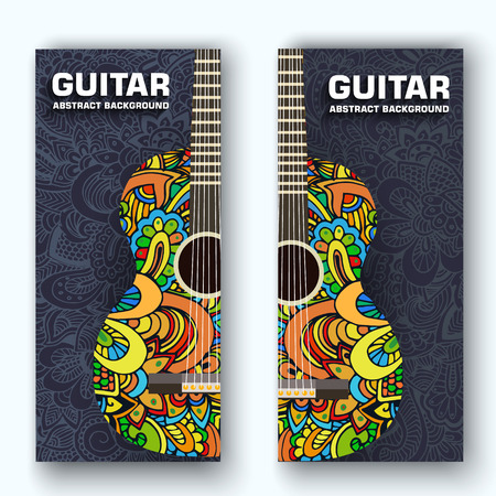 flat music instruments background concept. Vector illustrator 일러스트