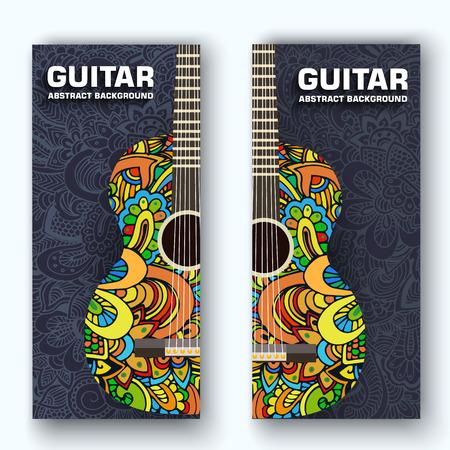 platte muziek instrumenten achtergrond concept. Vector illustrator