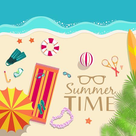 summer vecetion time background vector illustration concept