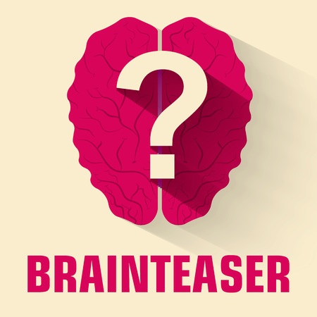 brainteaser: flat brainteaser icon concept. vector illustration design