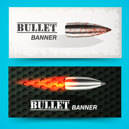 head shot: bullet background concept. illustration Illustration