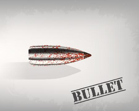 speed gun: bullet background concept. illustration Illustration