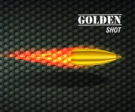ammunition: bullet background concept. illustration Illustration