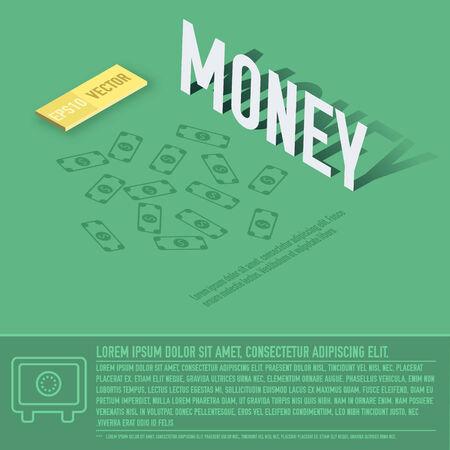 money business vector background concept. illustration design Illustration