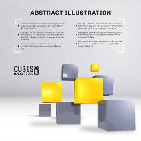 art of building: realistic cubes background concept. Vector illustration