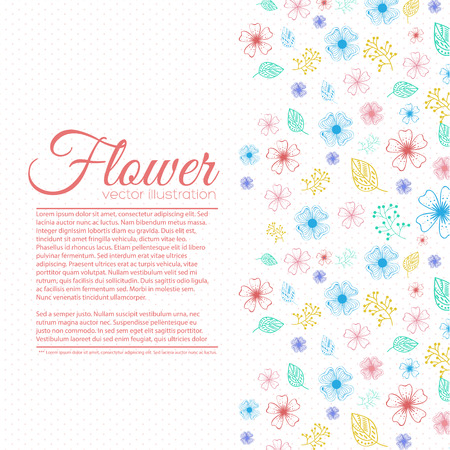 Flower background concept.  illustration Vector