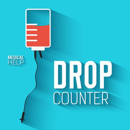 flat donate blood background. vector illustration concept Illustration