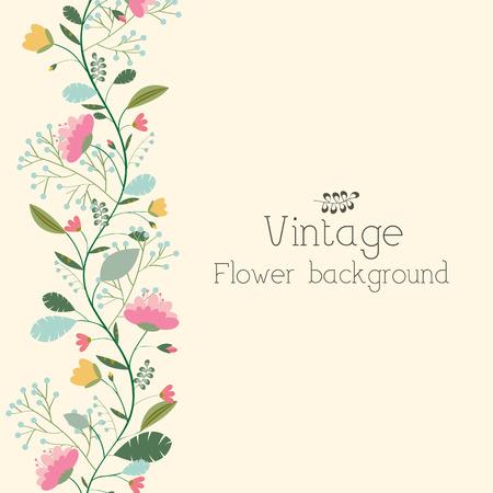 レトロな花の背景概念。ベクトル図
