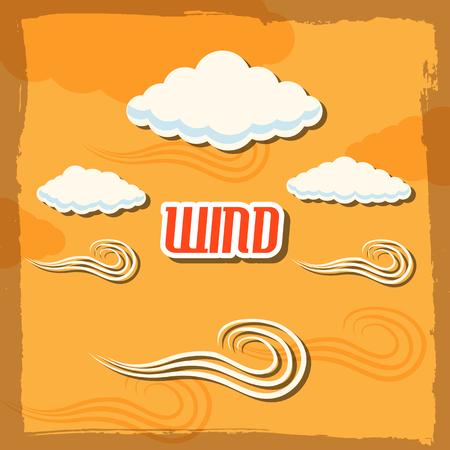 stormy: set retro glasses background concept.  illustration