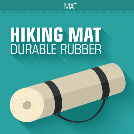 medical headwear: flat hiking mat concept background vector design illustration