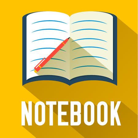 flat notebook design. vector illustration concept Illustration