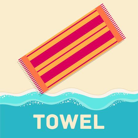 absorb: retro flat towel concept. vector illustration design Illustration