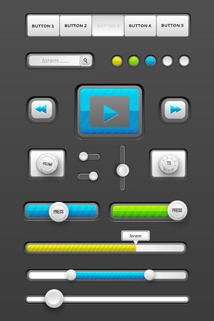 navigation panel: web interface ui elements. Vector illustration