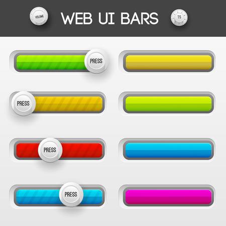 interface web: interface web ui �l�ments. Vector illustration
