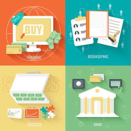 vida social: conjunto de la vida social business Iconos de fondos en la vendimia Vectores