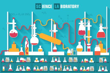 chemical laboratory: Retro experiments in a chemistry laboratory background