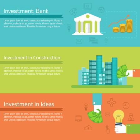 vida social: Conjunto plano de la vida social business banners horizontales diseño plano Vectores