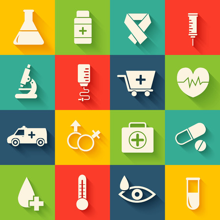 ampule: retro set of medical equpment backgrounds Illustration
