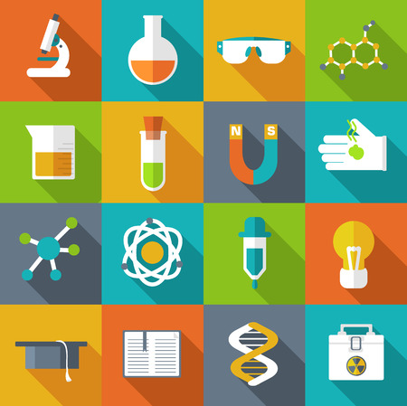 measuring cup: Retro experiments in a science chemistry laboratory icon