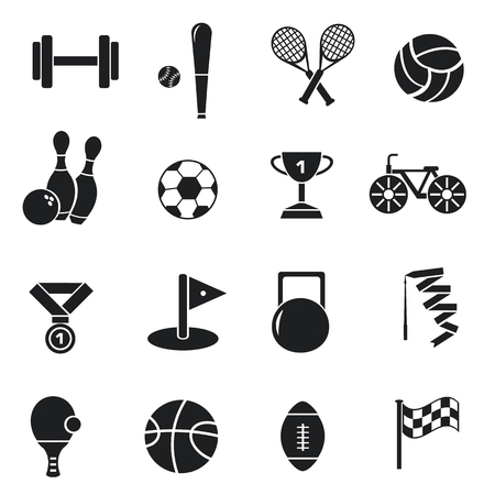 sports equipment: Concept of set lifestyle sports equipment illustration Illustration