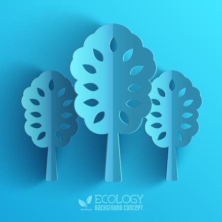 genealogy tree: Blue eco neture tree vector illustration background