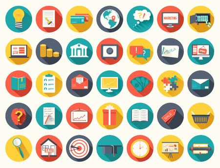 大きなコレクション ビジネス、教育、オンライン トレーニング、マーケティングの背景概念