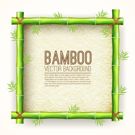 stretched: template bamboo board with stretched paper for text place background. Vector nature  illustration design concept