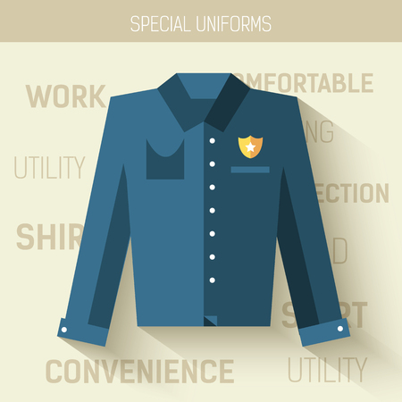 emergency vest: Work uniform for protection people.  Vector icon illustration background. Colorful template for you design, web and mobile applications concept