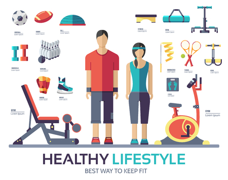 Sport life style infographic device equipment. Fitness icon. Stock Vector - 56556881