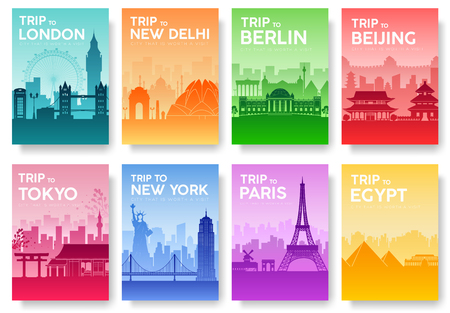 great wall: Travel of the world brochure with typography set. England country icon. England country. India country. Germany country. China country. Japan country. Usa country. France country. City landscape concept