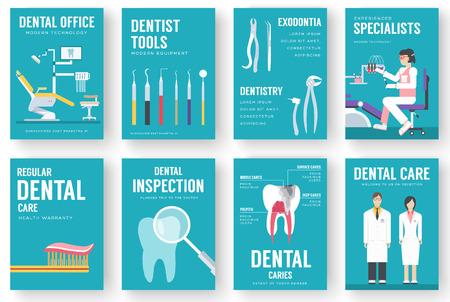 consultorio dental entre la ilustración de fondo. Dentista iconos del diseño de concepto