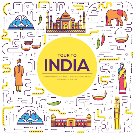 Country India travel vacation guide of goods, place and feature.