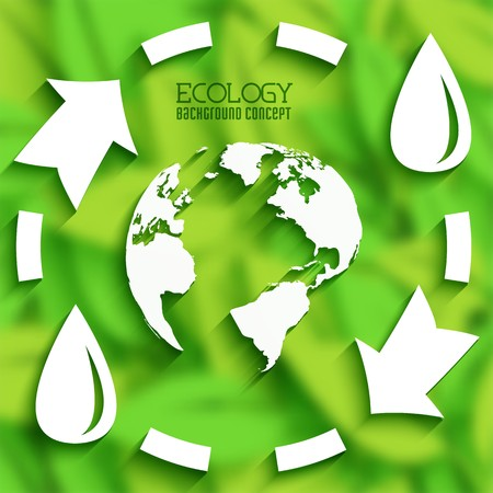 flat cycle eco infographic blurred background concept.  Vector illustration design