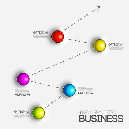 3d chart diagram business presentation. Realistic vector illustration design concept. Set of Infographic symbols elements graph bar