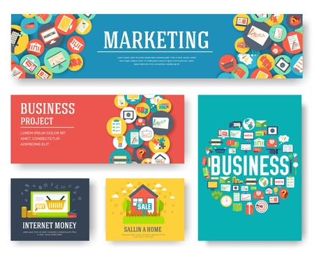 Business elements cards set. Marketing template of flyear, magazines, book cover, banners, booklet. idea infographic concept background. Layout illustrations modern pages with typography text