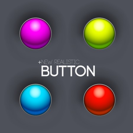 technical button push with wire background. Vector illustration design Иллюстрация