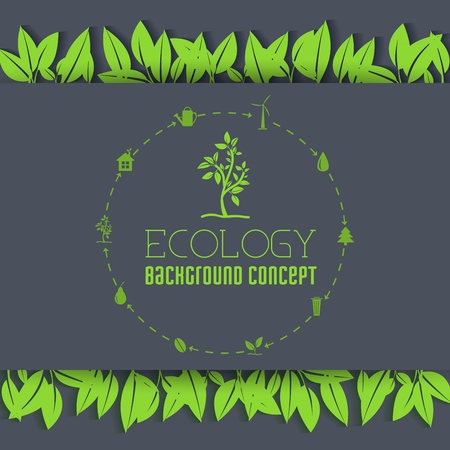 eco leaf background concept. Vector illustratiob design.